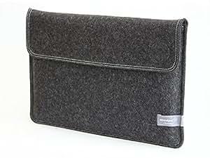 Waterkant Deichkönig Basic Wollfilz Tasche für MacBook Pro 15 Zoll mit Retina Display in Grau