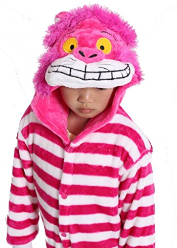 Cheshire Cat Kid's Costume Cosplay Anime Onesie Children Kigurumi Pajamas