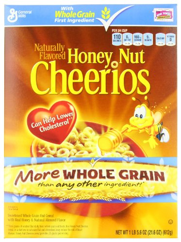 Honey Nut Cheerios Cereal 21.6 oz (016000483668)