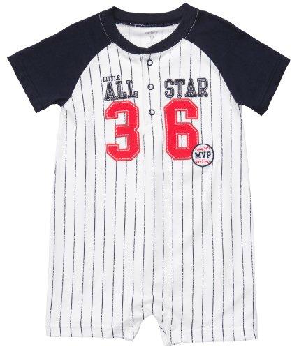 Carter'S Infant Knit Romper - Baseball-24 Months front-160820