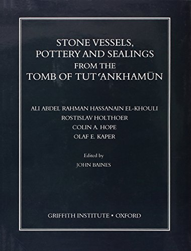 Stone Vessels, Pottery, and Sealings from Tomb of Tutankhamun (Griffith Institute Publications) (Stone Sealing compare prices)