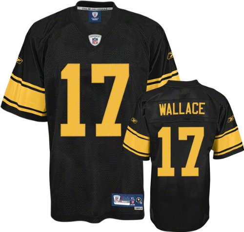 Pittsburgh Steelers Mike Wallace Reebok Sewn Tackle Twill Alternate Premier Jersey (XXL)