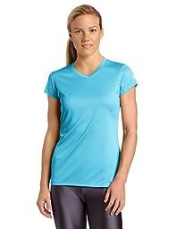 ASICS Women\'s Circuit 7 Warm-Up Shirt, Cyan Blue, X-Small