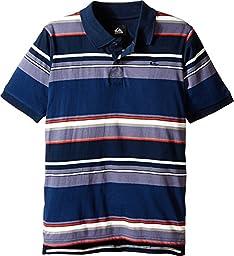 Quiksilver Big Boys\' Decay Stripe Polo, Navy Blazer, X-Large