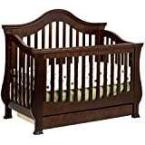 Million Dollar Baby Classic Ashbury 4-in-1 Convertible Crib with Toddler Rail, Espresso