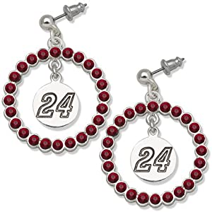 Jeff Gordon #24 Spirit Crystal Logo Wreath Earrings by Logo Art