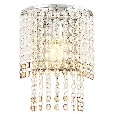 Edward Elric's 40W Crystal Wall Light with 1 Light in Arc Design