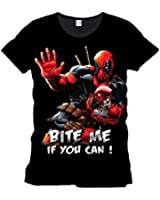 Deadpool - Bite Me! Homme T-Shirt - Noir