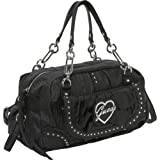 GUESS Bellissima Medium Box Satchel, BLACK Review