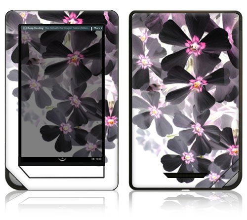 "Asian Flower Paint Decorative Protector Skin Decal Sticker for Barnes and Noble ""Nook COLOR"" E-Book Reader"