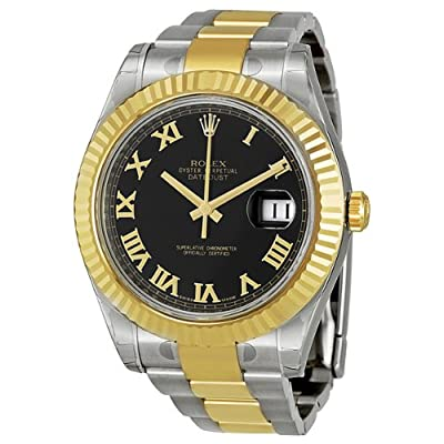 Rolex Datejust Automatic 18kt Gold Bezel Mens Watch 116333 from Rolex