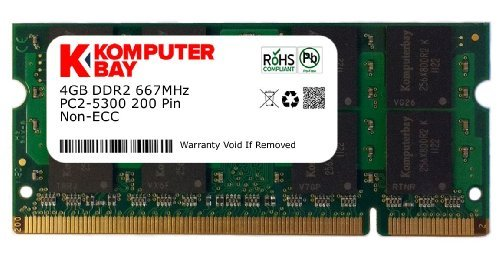 Komputerbay 4GB 200pin 667MHz PC25300/5400DDR2SODIMM CL5Arbeitsspeicher für Toshiba-Laptops