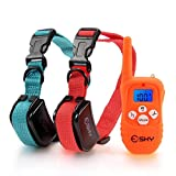 Esky Backlight 330YD Remote Dog Training Collar Rechargeable,Beep Vibration/Shock E-Collar
