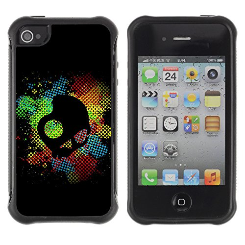 CycloneCases / Custodia Armatura / APPLE IPHONE 4 / 4S / Skull Candy Logo Dark Art Illustration