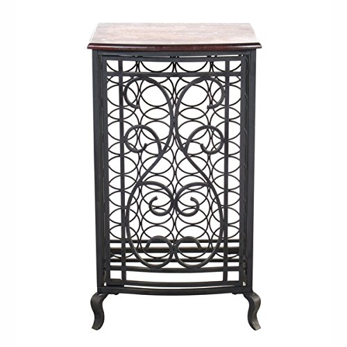 Legacy Home LTD 32-104LLT 18.5 x 31.5 in. Open Design Wine Storage Cabinet With Wood Table Top - Oil Rubbed Bronze (Cabinet Tabletop compare prices)