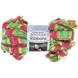 Amazon.com: Coats Yarn Red Heart Boutique Ribbons Yarn ...