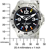 Nautica Men's N15573G BFD 101 Black Dial Watch