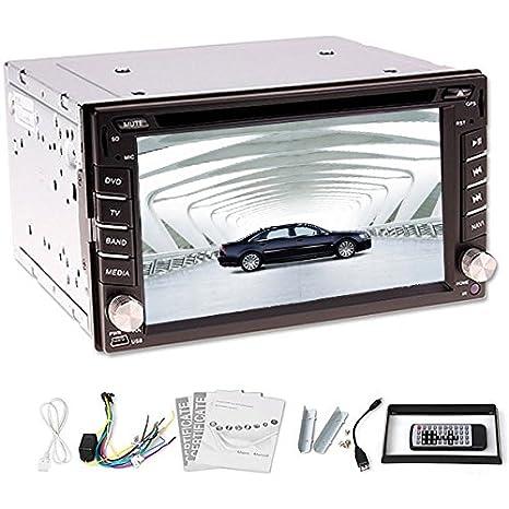 2015 Nouveau! 6,2 pouces 2 DIN Autoradio High Def arriššre gratuite + DVD de voiture Lecteur CD vidšŠo stšŠršŠo voiture de navigation GPS en option (option) Bluetooth FM de voiture Vidš&Scaron