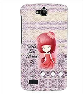 Printdhaba Quote D-3235 Back Case Cover For Huawei Honor Holly