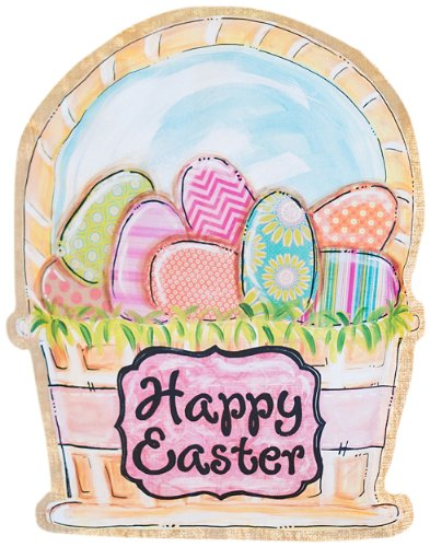 Glory Haus Easter Basket Burlee Wall Hanging, 21 by 17-Inch