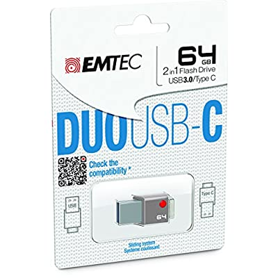 Emtec Duo Type C 64GB USB 3.0 Flash Drive (ECMMD64GT403)