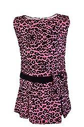 Faye Animal Print Fuchsia Dress 5-6 Years