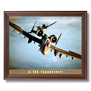 A-10A Thunderbolt Fighter Jet Aircraft Airplane Picture Framed Art Print