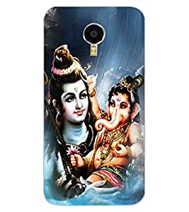 ColourCraft Lord Shiva With Ganesha Design Back Case Cover for MEIZU BLUE CHARM NOTE 3