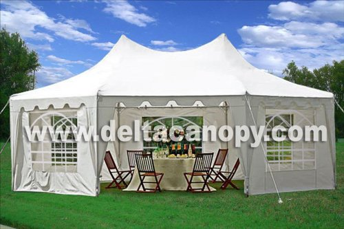 22'x16' Octagonal Wedding Party Gazebo Tent Canopy