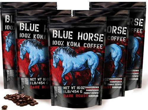 Farm-direct: 100% Kona Coffee, Dark Roast, Whole Beans, 5 Lbs