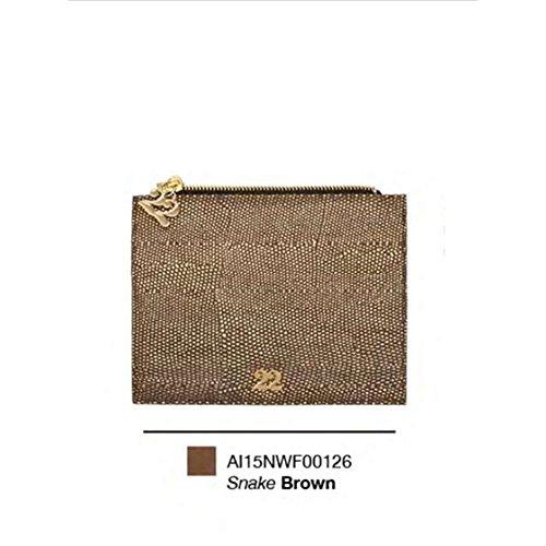 Numeroventidue WALLET FLAP SNAKE Portafogli Accessori Ecopelle Brown Brown TU