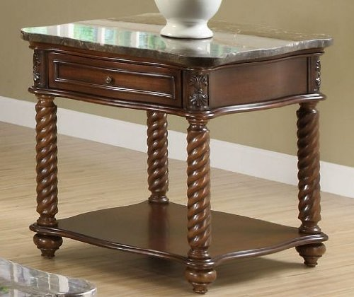 Cheap Lockwood End Table in Brown Mahogany by Homelegance (5560-04)