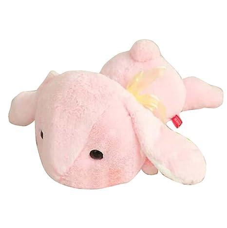 Oreiller de poupée de lapin blanc Lovely Long Ear Rabbit Pluh-puppets -Pink