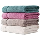 Fresh From Loom Cotton Bath Towel Set (4 Bath Towel, Multicolor-Assorted)
