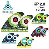 komunity フィン KP2.0 HONEY COMB-QUAD FUTURE ブルー