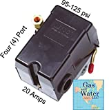 UNIVERSAL PRESSURE SWITCH 95-125 PSI FOR AIR COMPRESSOR 4 PORT REPLACES HUBBELL FURNAS SQUARE D SIEMENS SEARS DEWALT CRAFTSMAN BLACK MAX JENNY BLACK AND DECKER