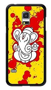 "Humor Gang Ganesha Splatter Art Printed Designer Mobile Back Cover For ""Samsung Galaxy S5"" (3D, Glossy, Premium Quality Snap On Case)"