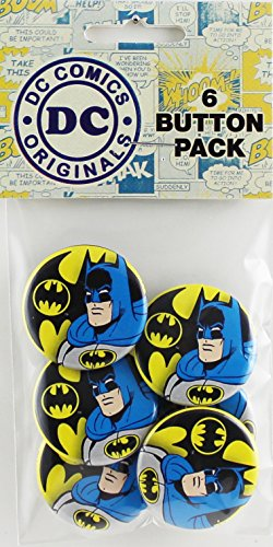 Button set DC Comics Originals Batman with Logo Button (6-Piece), 1.25