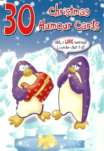 Humorous Christmas Cards - Box of 30 Funny Christmas Cards