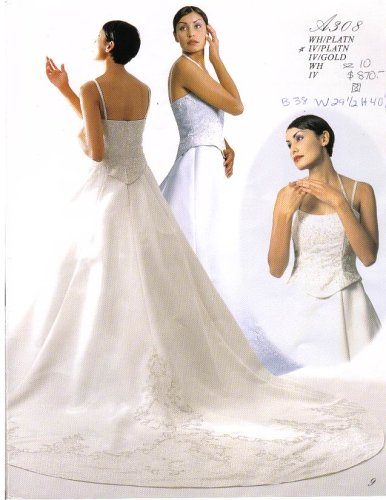Lebon Bridal Couture Ivory/Platinum Size 10 Formal Bridal Gown Wedding Dress