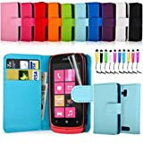 Leather Wallet Flip Case Cover For Nokia Lumia 610