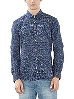 ESPRIT Camisa Hombre (Azul)