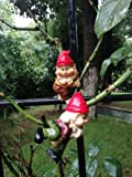 BIG SALE Set of 2 Lovable Poly Resin Dwarf Edge Climbers to Decorate Pot and Planter Edges