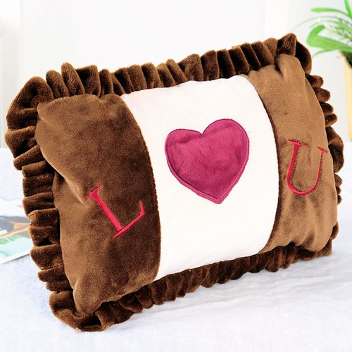 Zwzcyz Coffee Romantic Love Body Hand Warmer Hot Water Bottle Electric Heat Warming Bag Cover Nice Gift (No Water Injection)