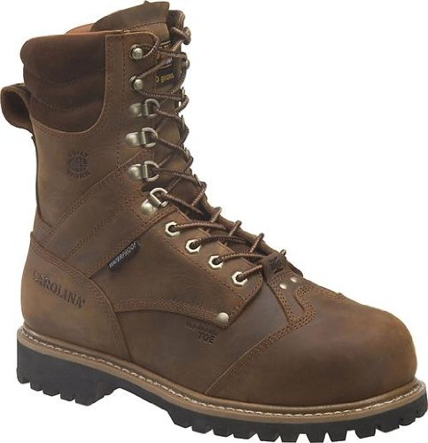 "Men's Carolina 8"" EH Waterproof Insulated MetGuard Comp Toe Boot"
