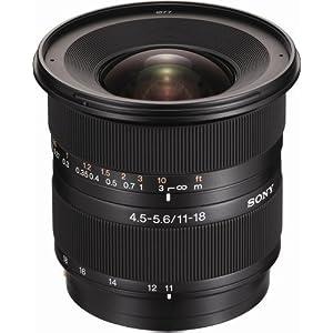 Sony DT 11-18mm f/4.5-5.6 Aspherical ED Super Wide Angle Zoom Lens for Sony Alpha Digital SLR Camera
