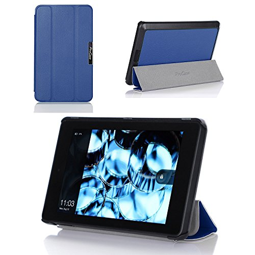 ProCase SlimSnug Case for New Fire HD 6 Tablet (2014 Release), Slim and light, Hard Shell Cover, with Stand, Exclusive for 2014 Fire HD 6 Tablet (Navy Blue)