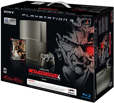 PlayStation 3 40GB Metal Gear Solid 4 Gray Kojima Bundle