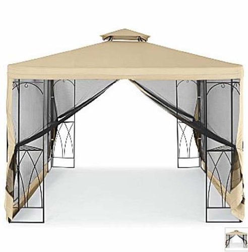 Jcp 2009 outdoor oasis gazebo replacement canopy gazebos for Outdoor furniture gazebo