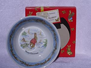 Wedgwood Peter Rabbit Christmas Oatmeal Bowl (1996) - Made in England